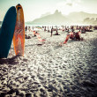View of Ipanema Beach in the evening, Brazil — Stock Photo