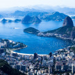 Rio de Janeiro, Brazil. Suggar Loaf and Botafogo beach viewed from Corcovado — Stock Photo #26844659