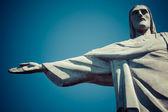 Christ the Redeemer statue in Rio de Janeiro in Brazil — Stock Photo