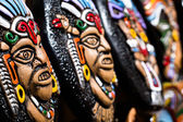 Souvenir masks from argentina, South America. — Stock Photo