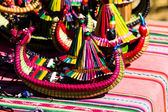 The souvenirs from floating Islands of lake Titicaca Puno Peru South America — Stock Photo