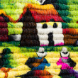 Colorful Fabric at market in Peru, South America — Foto Stock