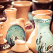 Ceramic in local market in Peru, South America. - Stock Photo