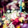 Stock Photo: Flowers for sale at Peruwimarket in South America.