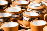 Ceramic in local market in Peru, South America. — Foto Stock