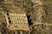 Ollantaytambo - antiga fortaleza inca e cidade colinas do vale sagrado dos Incas (valle sagrado) nas montanhas dos andes do peru, América do Sul — Fotografia Stock