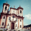 Chico Rei church in Ouro Preto - Minas Gerais - Brazil  — Stock Photo