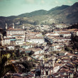 View of the unesco world heritage city of Ouro Preto in Minas Gerais Brazil — 图库照片