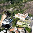 The cable car to Sugar Loaf in Rio de Janeiro — Stock Photo