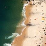 Aerial view of Urca beach and neighborhood homes, Rio de Janeiro, Brasil. — Stock Photo #27082321