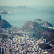 Rio de Janeiro, Brazil. Suggar Loaf and Botafogo beach viewed from Corcovado — Stock Photo