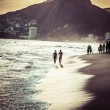 Stock Photo: View of IpanemBeach in evening, Brazil