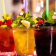Colorful cocktails — 图库照片