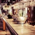 Wine bar tasting set up tray decoration bottles in restaurant — Stock Photo #27678805