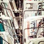 Local newspaper headlines — Stock Photo