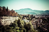Aerial view in Bergamo, Lombardy, Italy — Stock Photo