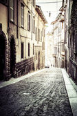 Old european street, Bergamo, Italy — Stock Photo