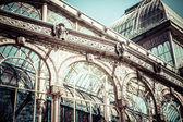 Crystal Palace in the Retiro Park in Madrid. Spain — Foto de Stock