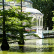 Crystal Palace (Palacio de cristal) in Retiro Park,Madrid, Spain.  — Stock Photo