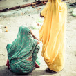 Women with colorful saris in Varanasi, India. — Stock Photo #27815589