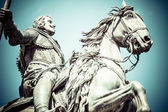 The monument of Charles III on Puerta del Sol in Madrid, Spain — Stock Photo