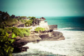World famous Pura Tanah Lot - or Temple of the Land in the Sea, Bali — Stock Photo