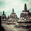 Stock Photo: Borobudur temple near Yogyakarton Javisland, Indonesia