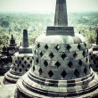 Borobudur temple near Yogyakarta on Java island, Indonesia — Stok fotoğraf