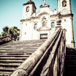 Chico Rei church in Ouro Preto - Minas Gerais - Brazil — Stock Photo