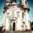 View of the Igreja de Sao Francisco de Assis of the unesco world heritage city of ouro preto in minas gerais brazil — Photo