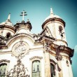 View of the Igreja de Sao Francisco de Assis of the unesco world heritage city of ouro preto in minas gerais brazil — Stock Photo