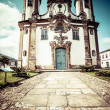 View of the igreja de nossa senhora do carmo of the unesco world heritage city of ouro preto in minas gerais brazil — Foto de Stock