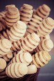 Dřevěné honey naběračka — Stock fotografie