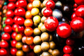 Various of different colorful necklace at local polish market. — Stock Photo