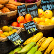 Fruits market, in La Boqueria,Barcelona famous marketplace  — Stock Photo
