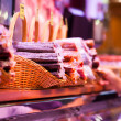 Stock Photo: Meat and sausages on shopwindow at europemarket