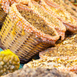 Stock Photo: Dried mushrooms in market, in LBoqueria, market Barcelona