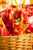 Dragon fruit on market stand, Thailand. — Stock Photo