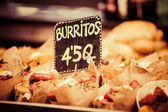 Burrito stall in a indoors market. — Stock Photo