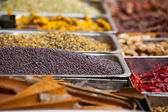 Indian colored spices at local market in Goa, India — Stock Photo