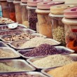 Stock Photo: Composition of many different spices teas and herbs