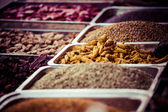 Indian colored spices at local market in, India — Stock Photo