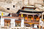 Leh Monastery looming over medieval city of Leh — Stock Photo