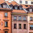 Traditional architecture in Warsaw, Poland  — Stock Photo