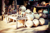 Ceramics on the street. — Stock Photo