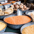 Stock Photo: IndiMarketstall selling ingredients