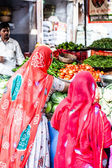 Indian Marketstall selling ingredients — Stock Photo