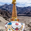 Stock Photo: Buddhistic stupas (chorten) in Tibet