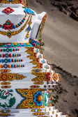 Buddhistic stupas (chorten) in Tibet — Stock Photo