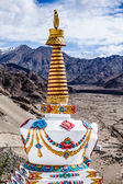 Buddhistic stupas (chorten) in Tibet — Stock Photo
